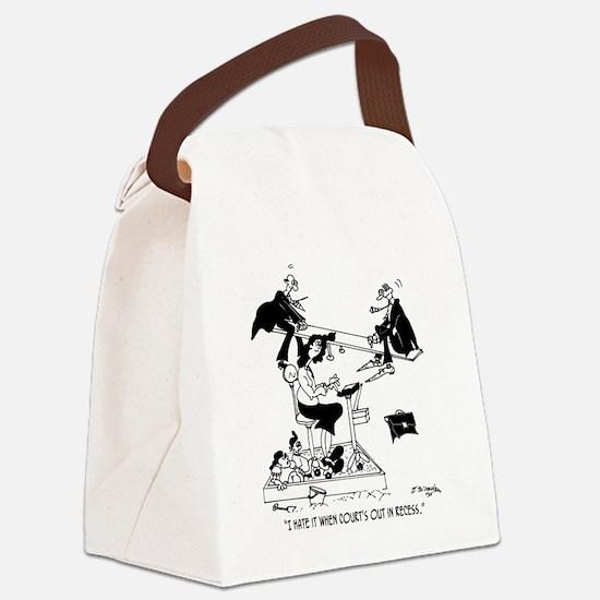 7494_court_cartoon Canvas Lunch Bag