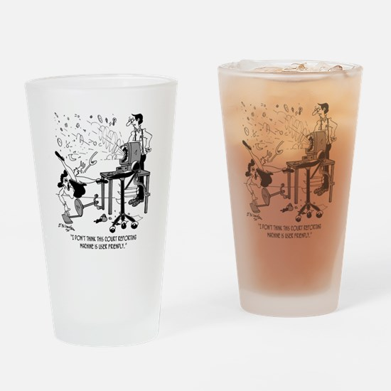 7495_court_reporter_cartoon Drinking Glass