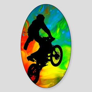 Motocross in a Solar Melt Down  Sticker (Oval)