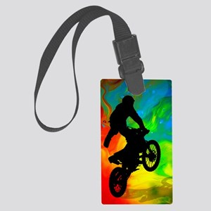Motocross in a Solar Melt Down  Large Luggage Tag