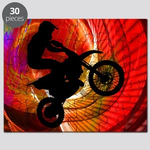 Motocross Light Streaks in a Windtunnel Puzzle
