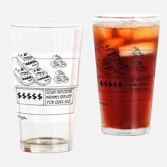 5788_court_reporter_cartoon Drinking Glass