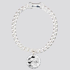 6022_court_reporter_cart Charm Bracelet, One Charm