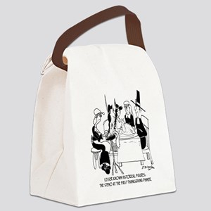8436_court_reporter_cartoon Canvas Lunch Bag
