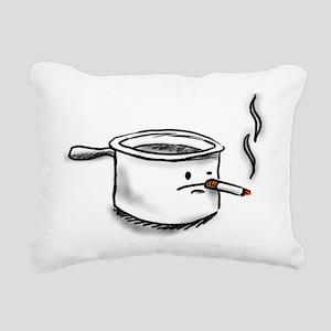 smoking pot Rectangular Canvas Pillow