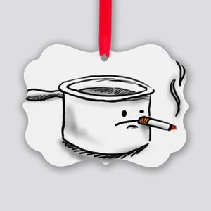 smoking pot Picture Ornament
