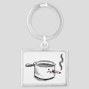 smoking pot Landscape Keychain