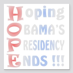 "Hoping Silver Square Car Magnet 3"" x 3"""