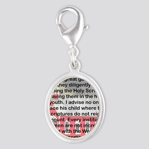 SCHOOLS THE GATES OF HELL Silver Oval Charm