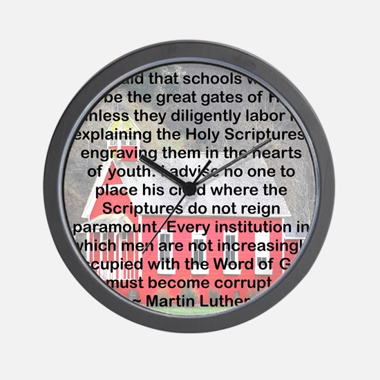 SCHOOLS THE GATES OF HELL Wall Clock