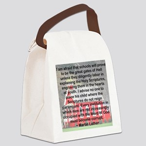 SCHOOLS THE GATES OF HELL Canvas Lunch Bag