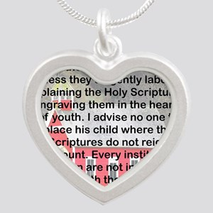 SCHOOLS THE GATES OF HELL Silver Heart Necklace