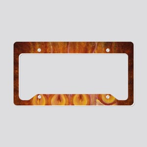 suede pillow candle lights License Plate Holder