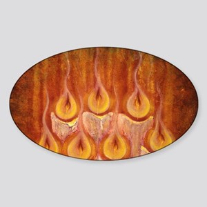 suede pillow candle lights Sticker (Oval)