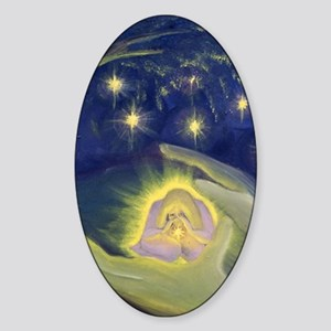 suede pillow star blessings Sticker (Oval)