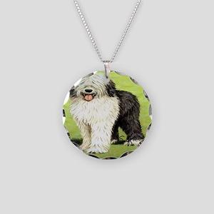 oldenglishsheepdog Necklace Circle Charm