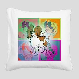 papillon2 Square Canvas Pillow