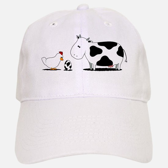 chicken and cow egg Baseball Baseball Cap