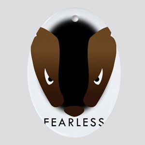 Honey Badger Fearless Oval Ornament