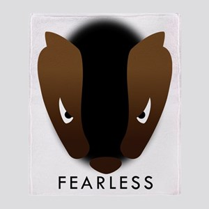 Honey Badger Fearless Throw Blanket