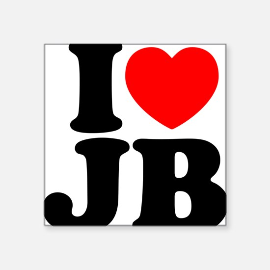 "I Love Jam Bands Square Sticker 3"" x 3"""