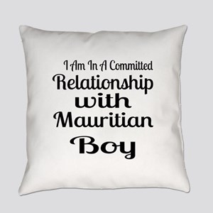 I Am In Relationship With Mauritia Everyday Pillow
