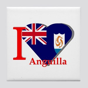 I love Anguilla Tile Coaster