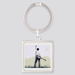 guitar wall Square Keychain