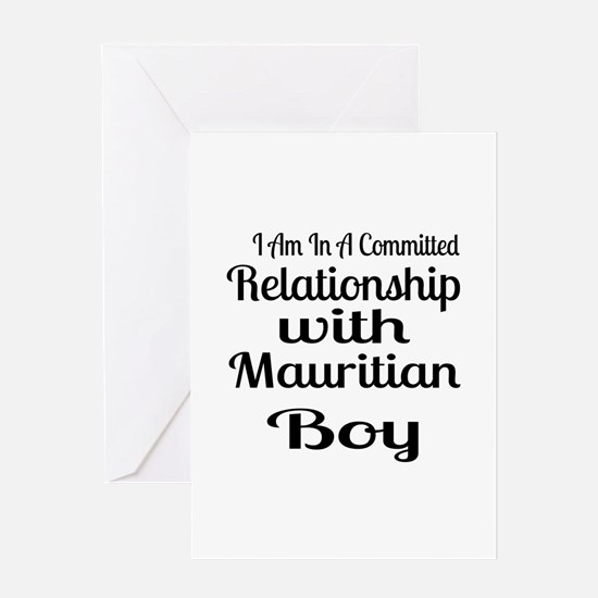 I Am In Relationship With Mauritian Greeting Card