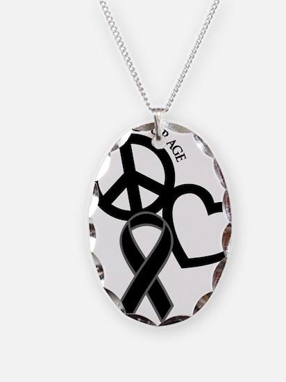 Black, Courage Necklace
