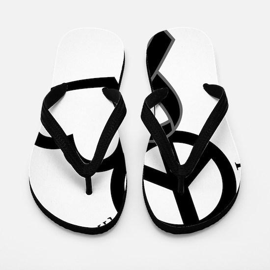 Black, Hope Flip Flops