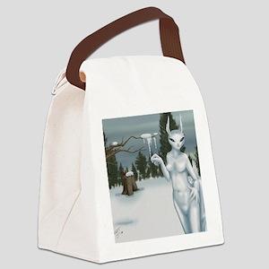 Seasons Winter Canvas Lunch Bag