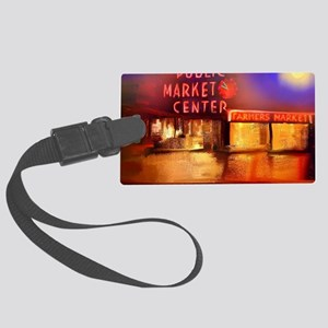 Pike Place Market.pod Large Luggage Tag