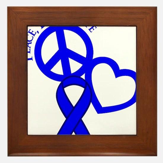 Blue, Hope Framed Tile