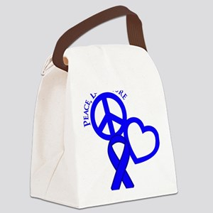 Blue, Cure Canvas Lunch Bag