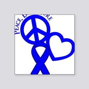 "Blue, Cure Square Sticker 3"" x 3"""