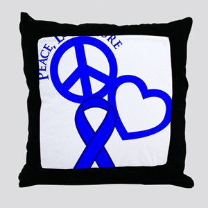 Blue, Cure Throw Pillow