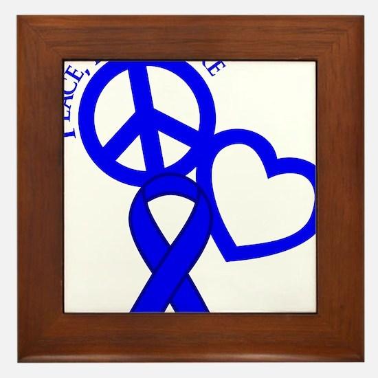 Blue, Cure Framed Tile