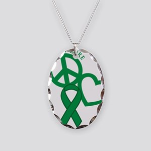 Green, Cure Necklace Oval Charm