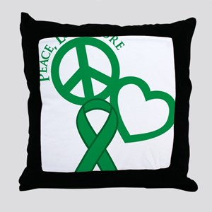 Green, Cure Throw Pillow