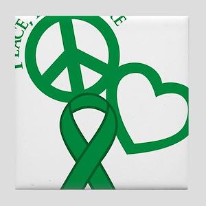 Green, Cure Tile Coaster