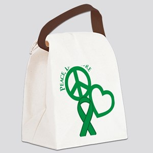 Green, Cure Canvas Lunch Bag