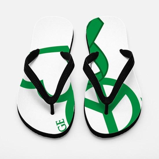 Green, Courage Flip Flops