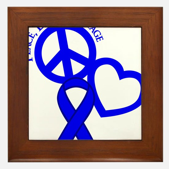 Blue, Courage Framed Tile