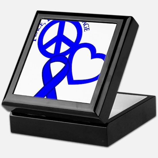 Blue, Courage Keepsake Box