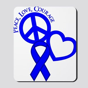Blue, Courage Mousepad