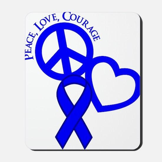 Blue, Courage Mousepad