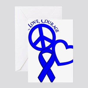 Blue, Courage Greeting Card
