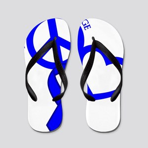 Blue, Courage Flip Flops
