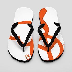 Orange, Courage Flip Flops